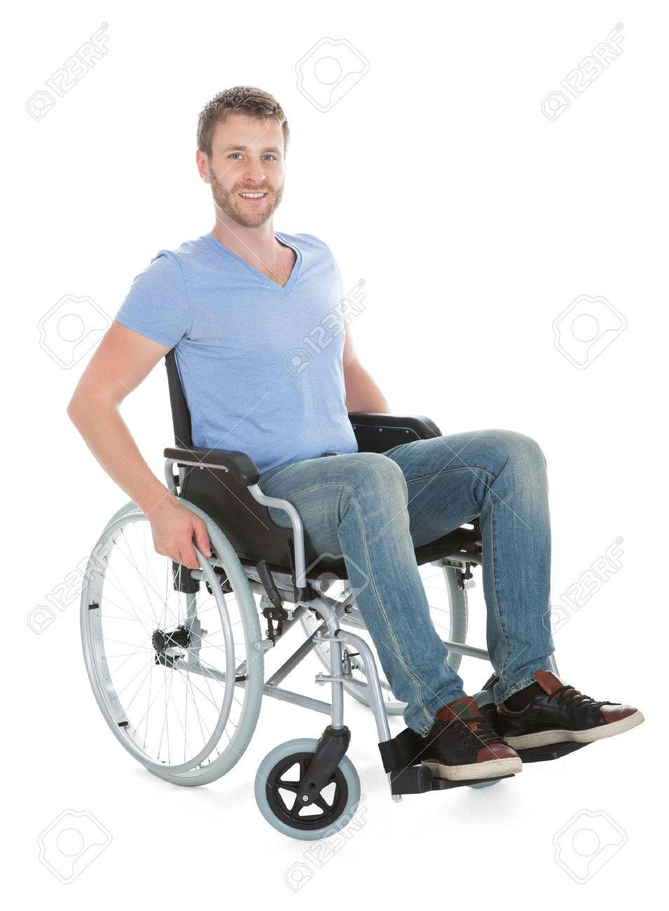 wheelchair man folding chairs wholesale los angeles full length portrait of disabled on over white background stock photo 30581225