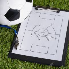 How To Wolf Whistle Diagram 4 Wire Ac Motor Wiring Stock Photos And Images 123rf Ball Soccer Tactic On Paper Over Pitch Photo