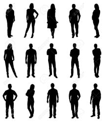 Set Of Trendy People Silhouettes Vector Image Royalty Free Cliparts Vectors And Stock Illustration Image 47216172