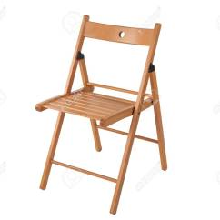 Folding Wooden Chairs Dining Chair Slipcovers Diy Isolated On White Background Stock Photo 53415076