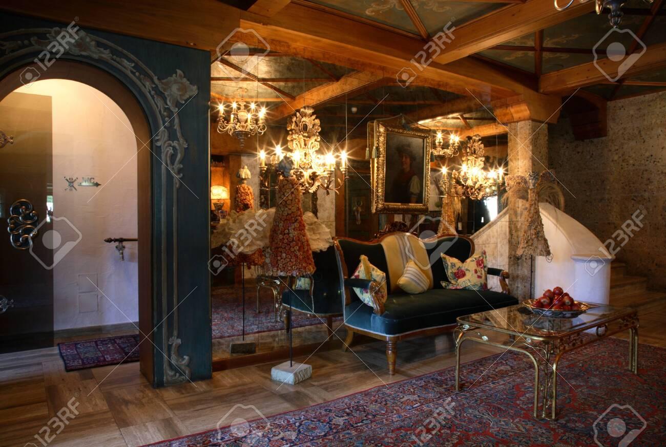 Lobby Of Elisabeth Hotel In Mayrhofen Austria