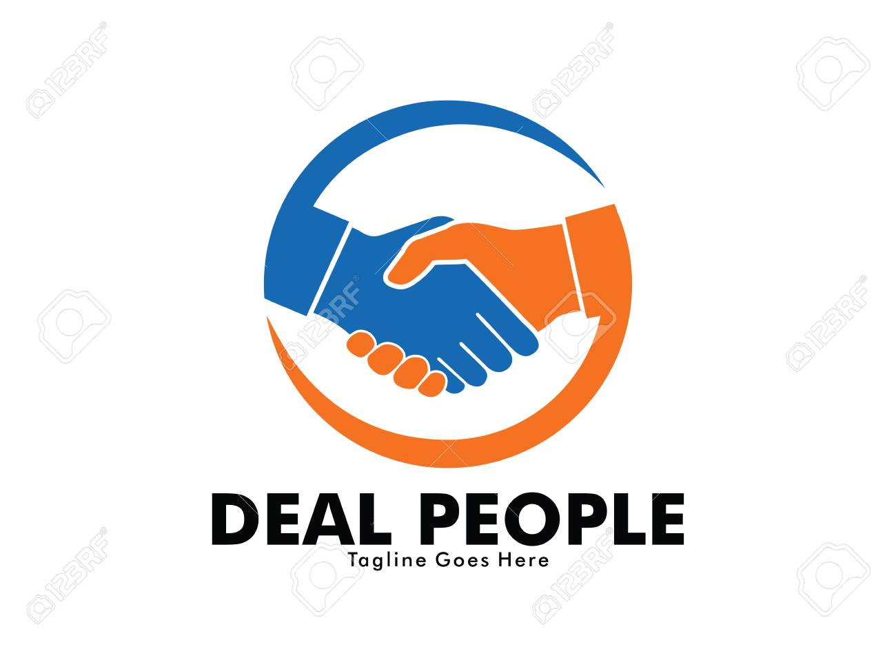 Vector Logo Design Of Deal Handshake Sign Meaning Of Friendship Royalty Free Cliparts Vectors And Stock Illustration Image 95728052