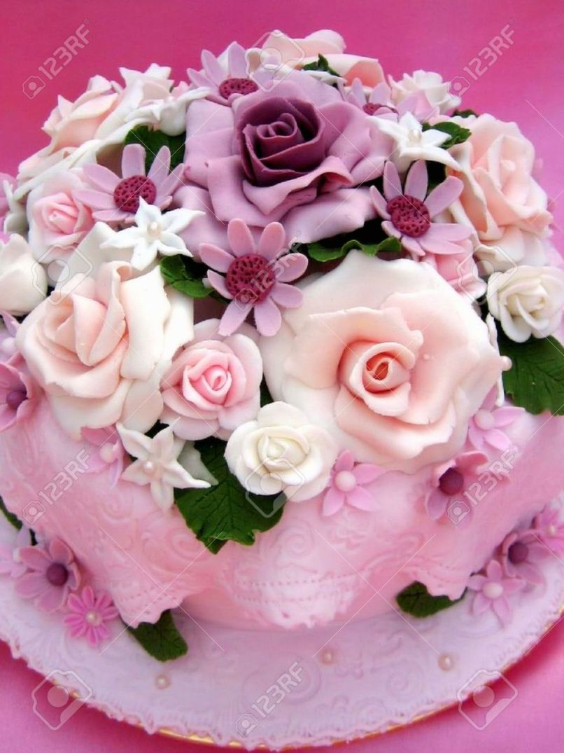 Happy birthday flower cake images free imaganationface flower colorful birthday cake stock photo picture and royalty free izmirmasajfo