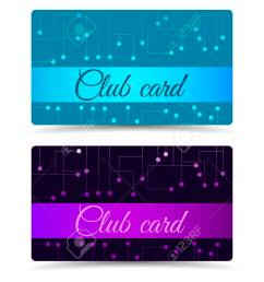 club card club plastic card set club cards gift cards stock vector [ 1300 x 974 Pixel ]