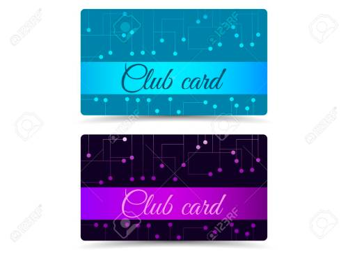 small resolution of club card club plastic card set club cards gift cards stock vector