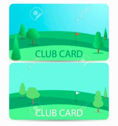 club card with a golf course membership in a golf club field with a [ 1300 x 974 Pixel ]