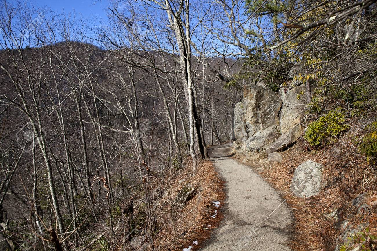 Details for the hike to laurel falls in the great smoky mountains. Mountain Hiking Trail To Laurel Falls In Great Smoky Mountains National Park In The In The Winter Near Gatlinburg Tennessee Stock Photo Picture And Royalty Free Image Image 25917151