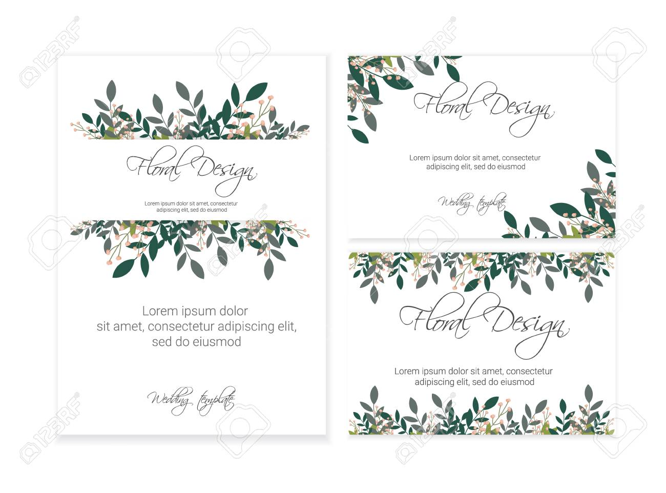 background wedding invitation card design