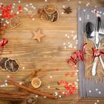 Christmas Dinner Table Setting With Cutlery Grey Napkin And Stock Photo Picture And Royalty Free Image Image 139579156