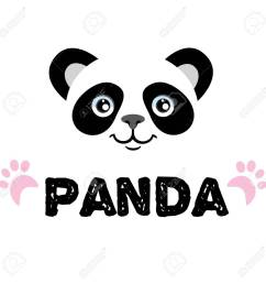panda isolated head on white background asian bear mascot idea for emblem symbol [ 1300 x 1300 Pixel ]