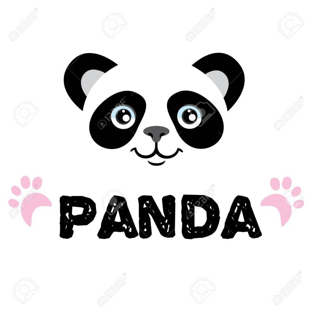 medium resolution of panda isolated head on white background asian bear mascot idea for emblem symbol