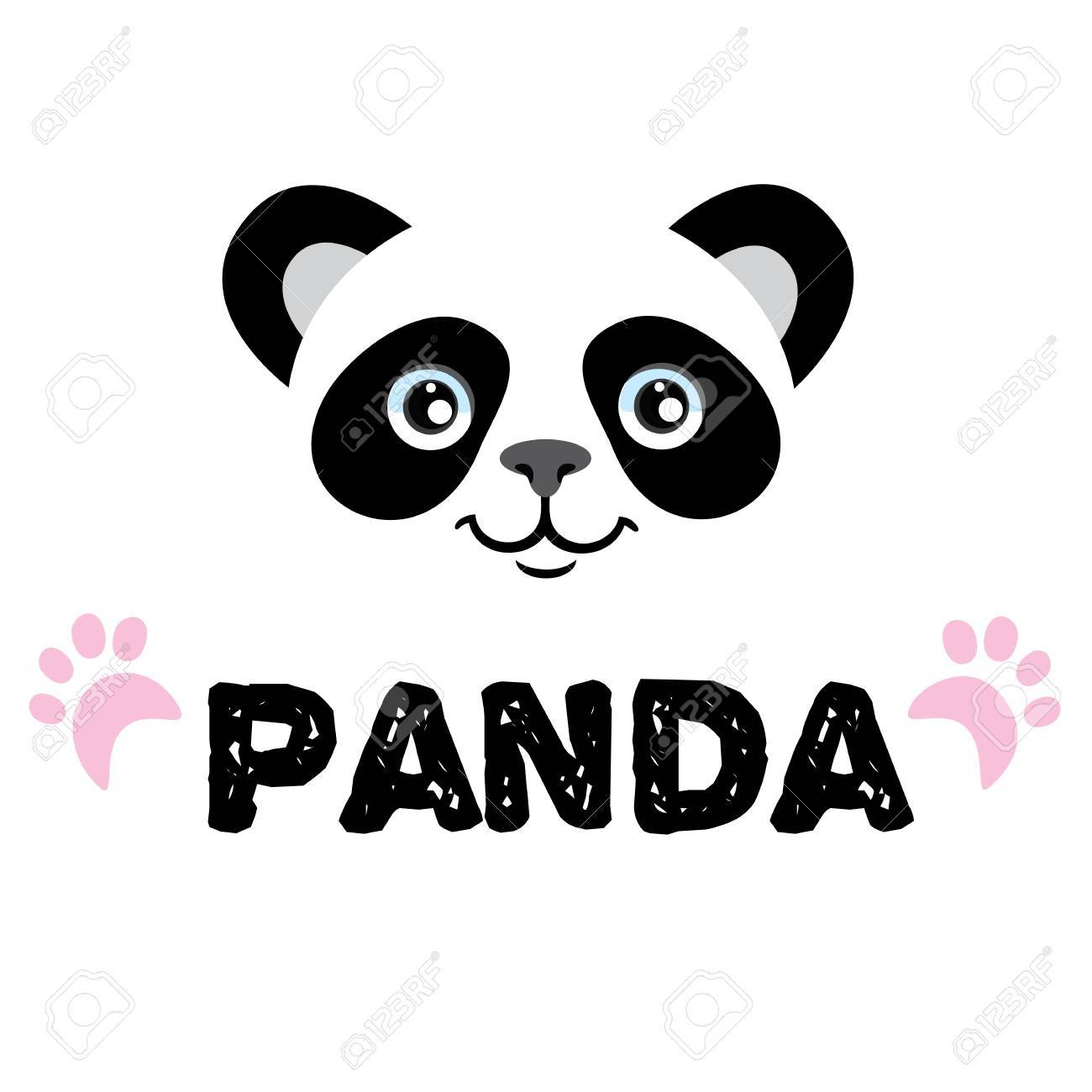 hight resolution of panda isolated head on white background asian bear mascot idea for emblem symbol