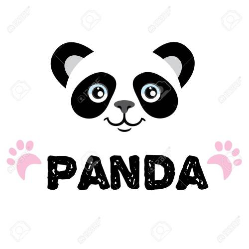 small resolution of panda isolated head on white background asian bear mascot idea for emblem symbol