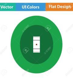cricket field icon flat design vector illustration stock vector 75342588 [ 1300 x 1300 Pixel ]