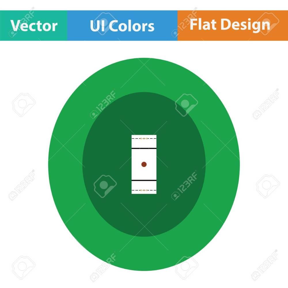 medium resolution of cricket field icon flat design vector illustration stock vector 75342588