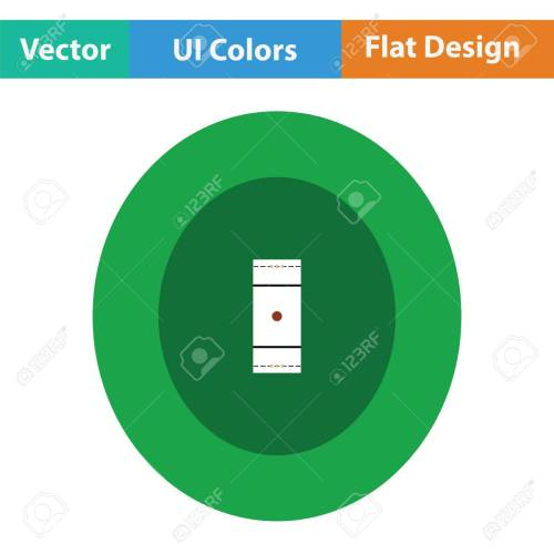 small resolution of cricket field icon flat design vector illustration stock vector 75342588