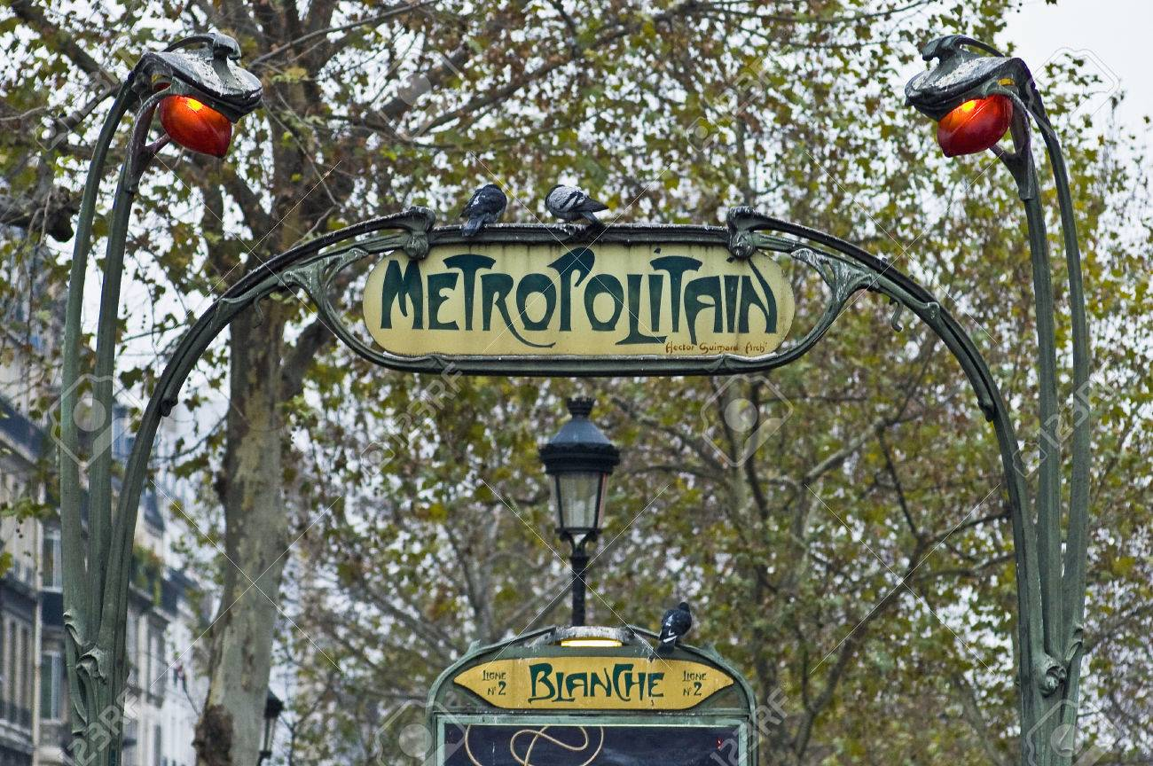 art nouveau metro entrance at paris france stock photo picture and royalty free image image 35258732