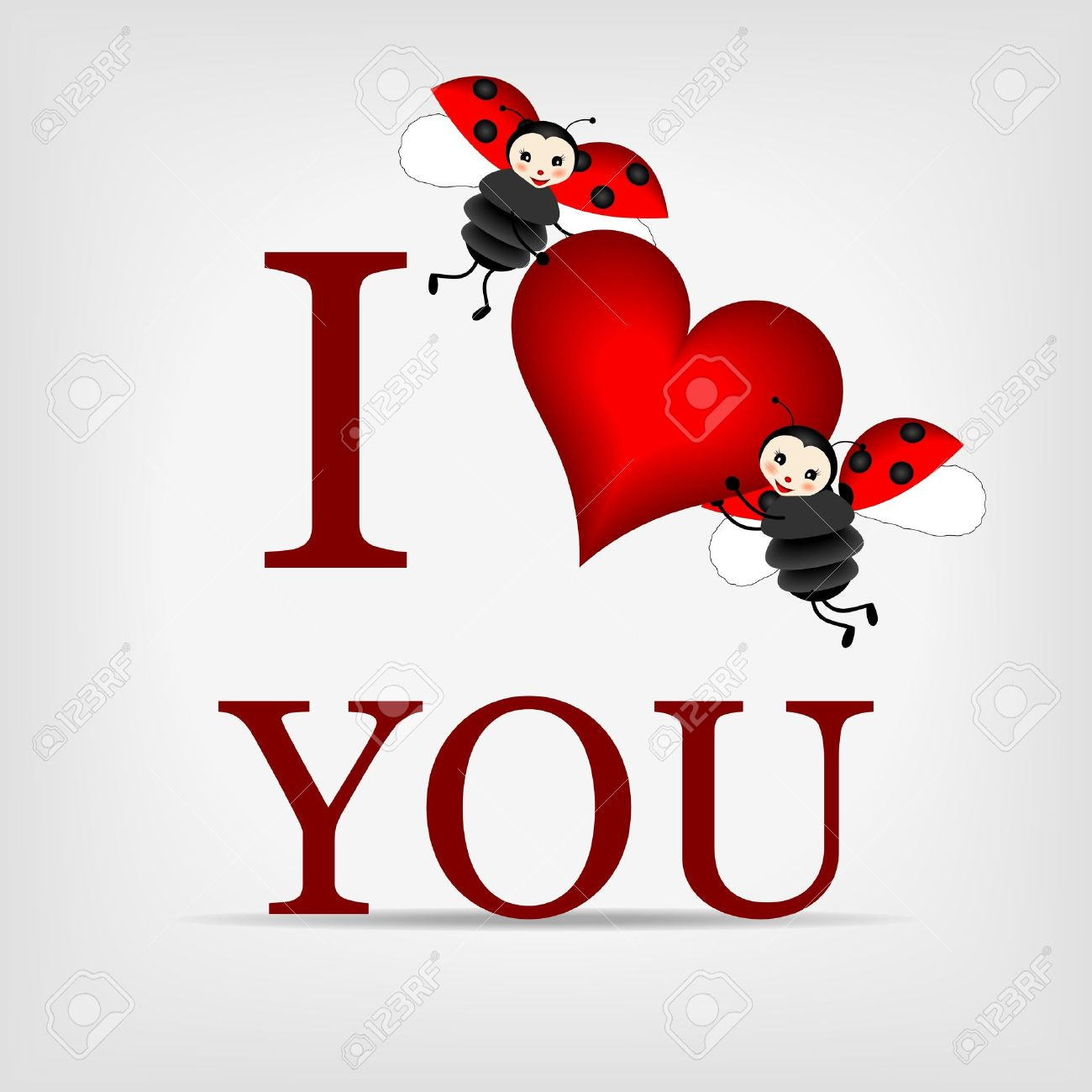 Love You Bilder Two Happy Ladybugs Holding Big Red Heart With Text I Love You Royalty Free Cliparts, Vectors, And Stock Illustration. Image 12991691.