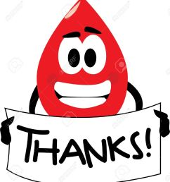 vector vector cartoon clip art of a blood drop thanking you for donating blood no gradients used isolated on white  [ 1168 x 1300 Pixel ]