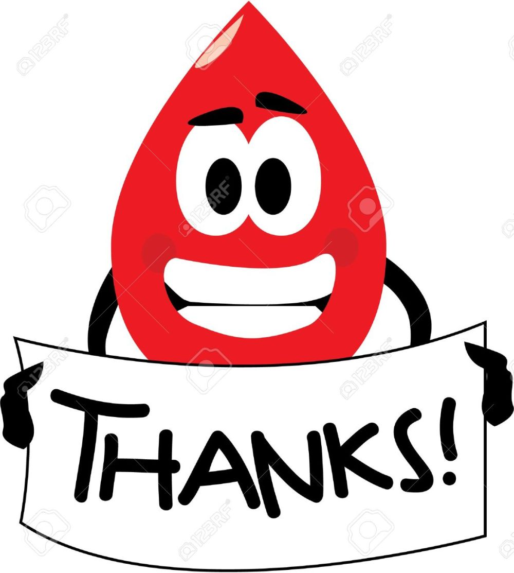 medium resolution of vector vector cartoon clip art of a blood drop thanking you for donating blood no gradients used isolated on white
