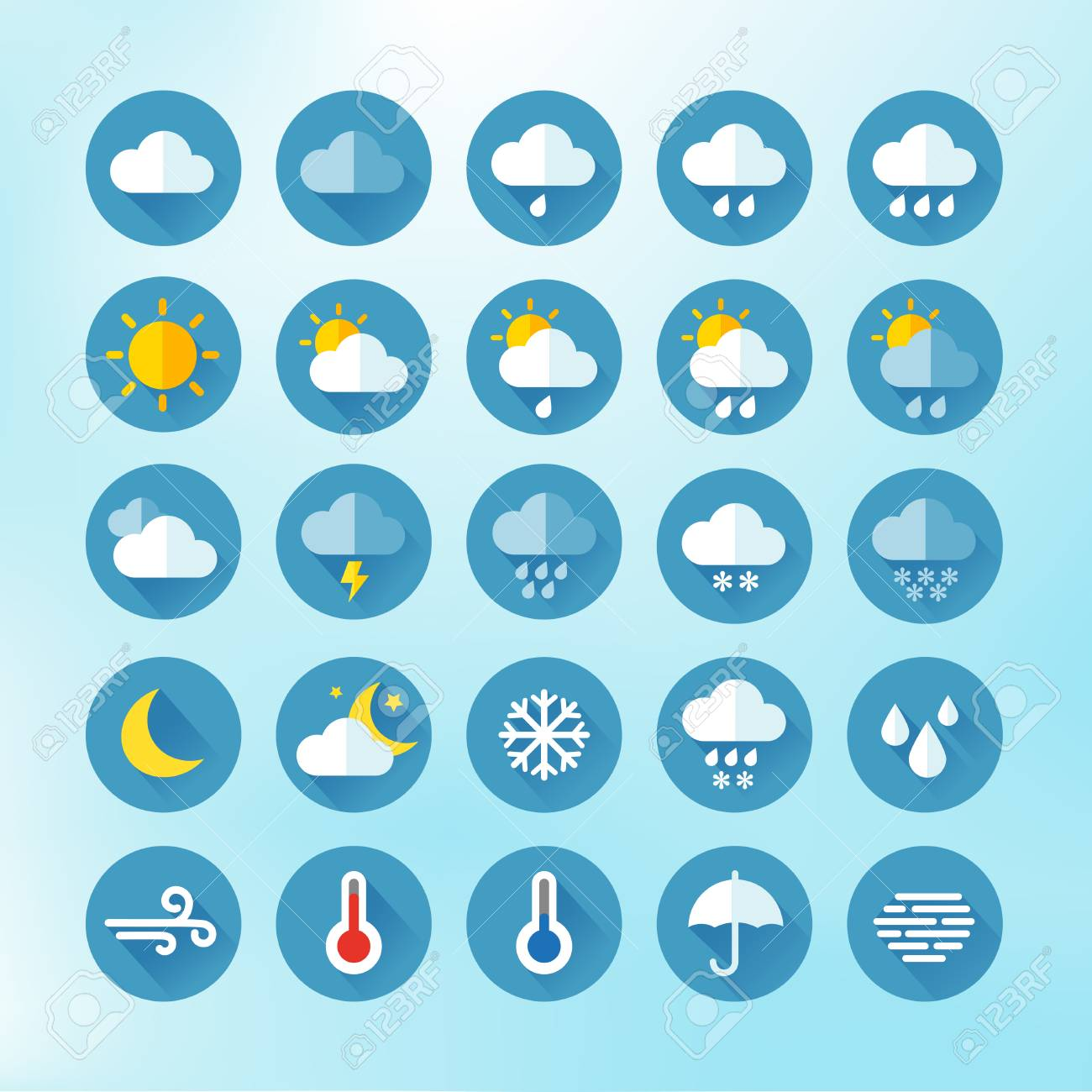 weather icons for print