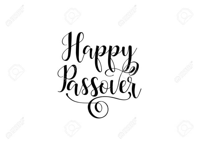 Happy Passover. Lettering. Traditional Jewish Holiday Handwritten