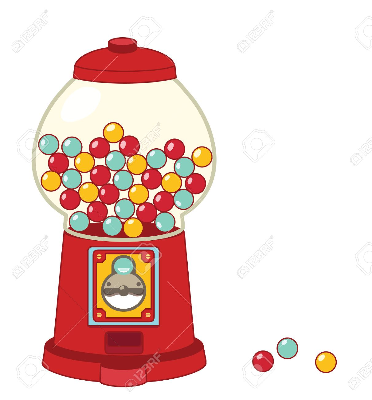 hight resolution of vector vintage gumball machine isolated on white vector file eps10
