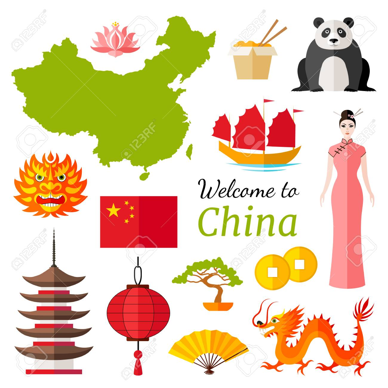 chinese travel banner with