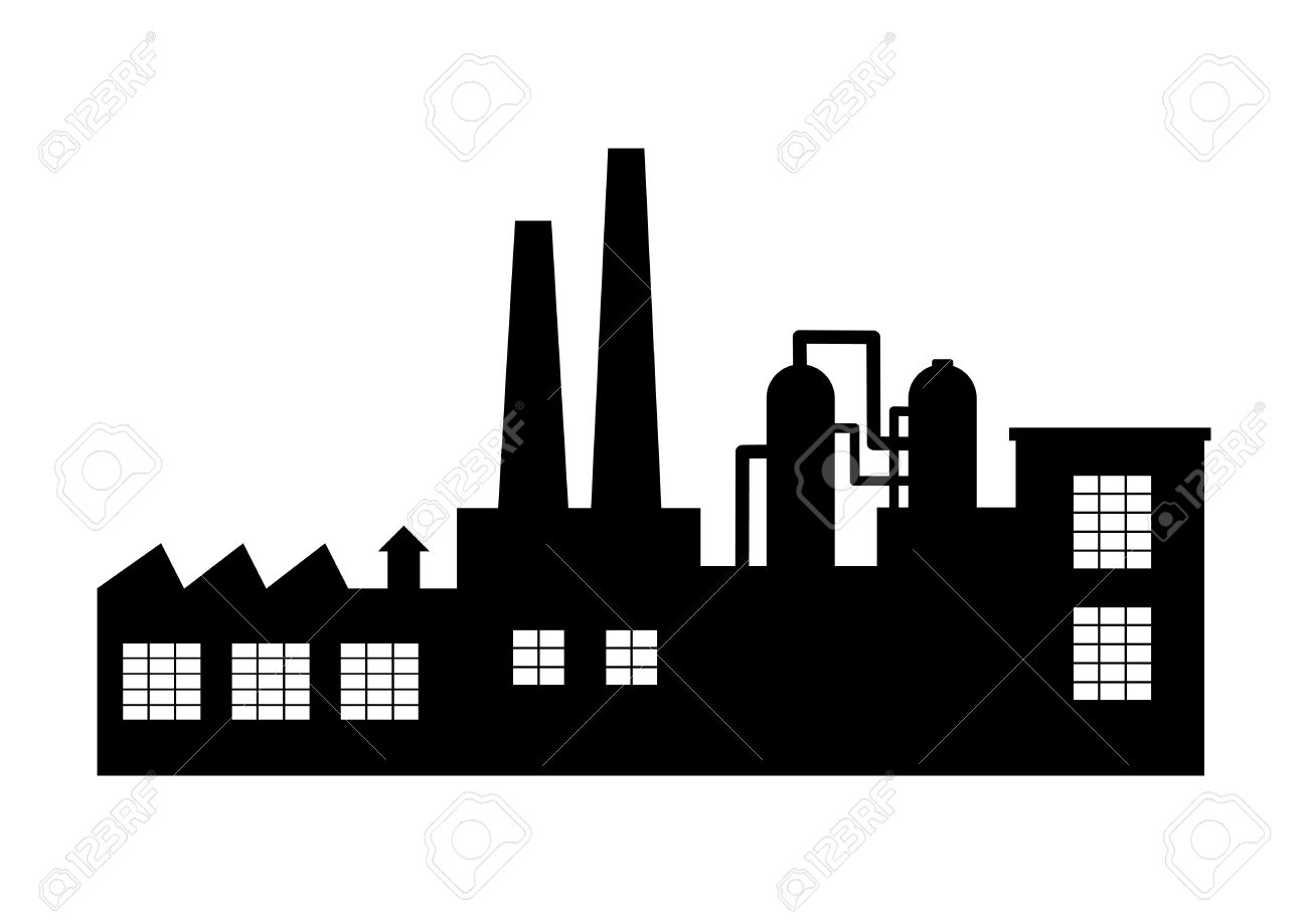 factory vector icon on