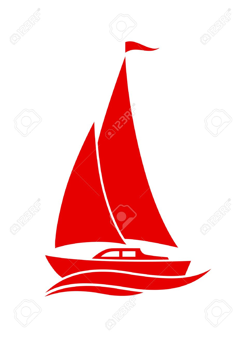 medium resolution of sailboat vector icon on white background