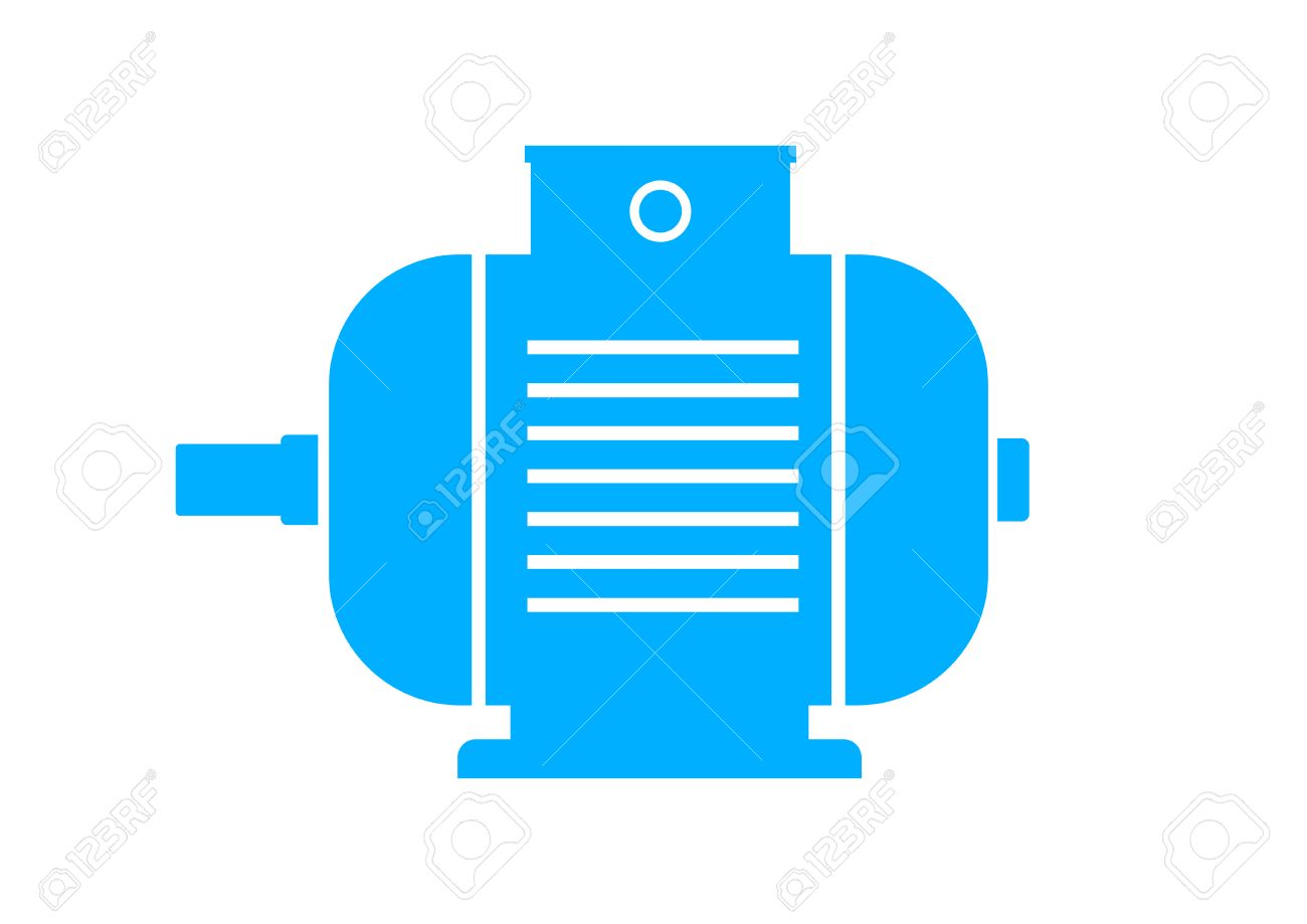 blue electric motor icon