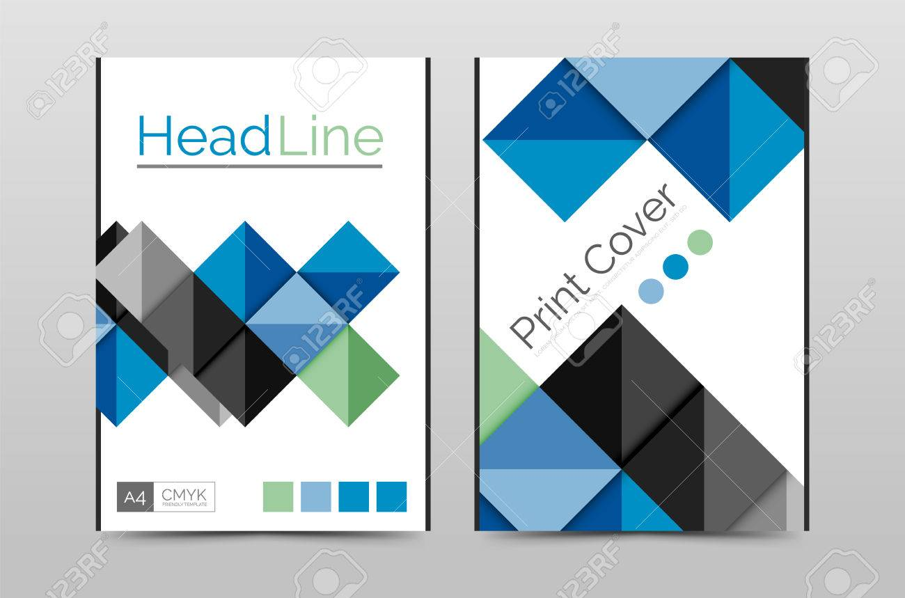 Geometric Brochure Front Page, Business Annual Report Cover Vector ...