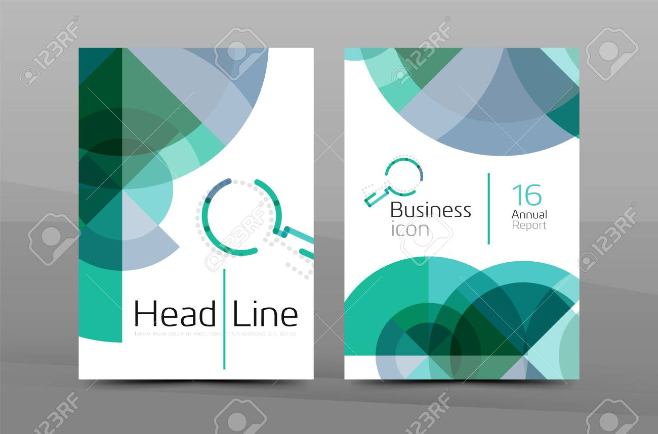 Report cover page report cover page report cover page example clean geometric design annual blue annual report title page flashek Images