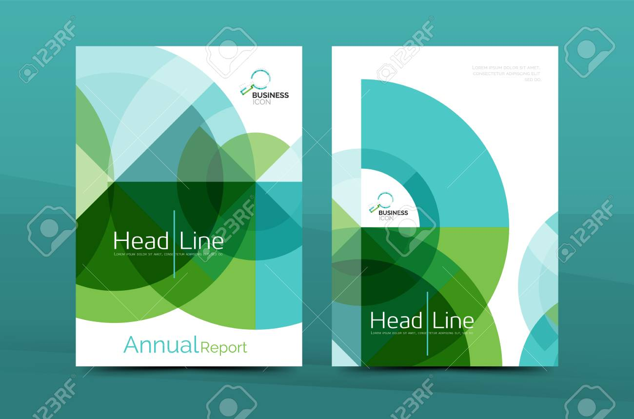 Clean Geometric Design Annual Report Cover, Leaflet Business ...