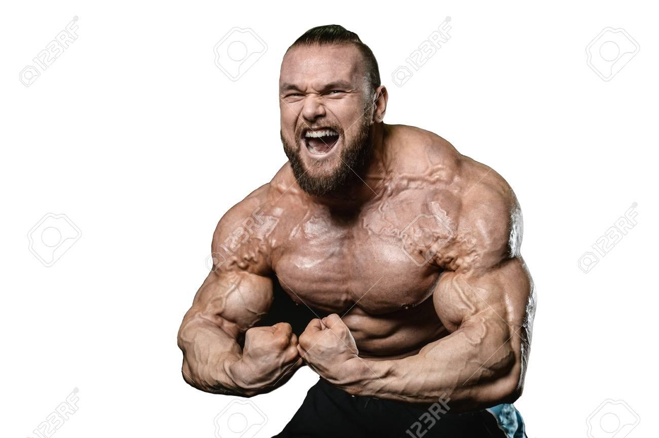 handsome fit caucasian muscular