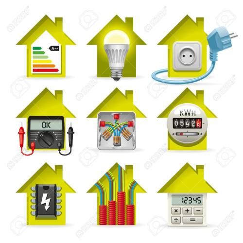 small resolution of icons installation of electrical equipment and wiring in the house stock vector 34469721