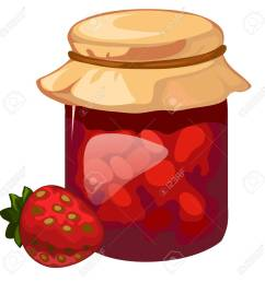jar of homemade strawberry jam vector dessert royalty free cliparts rh 123rf com hommade jam clip art garden owl clip art [ 1300 x 1300 Pixel ]