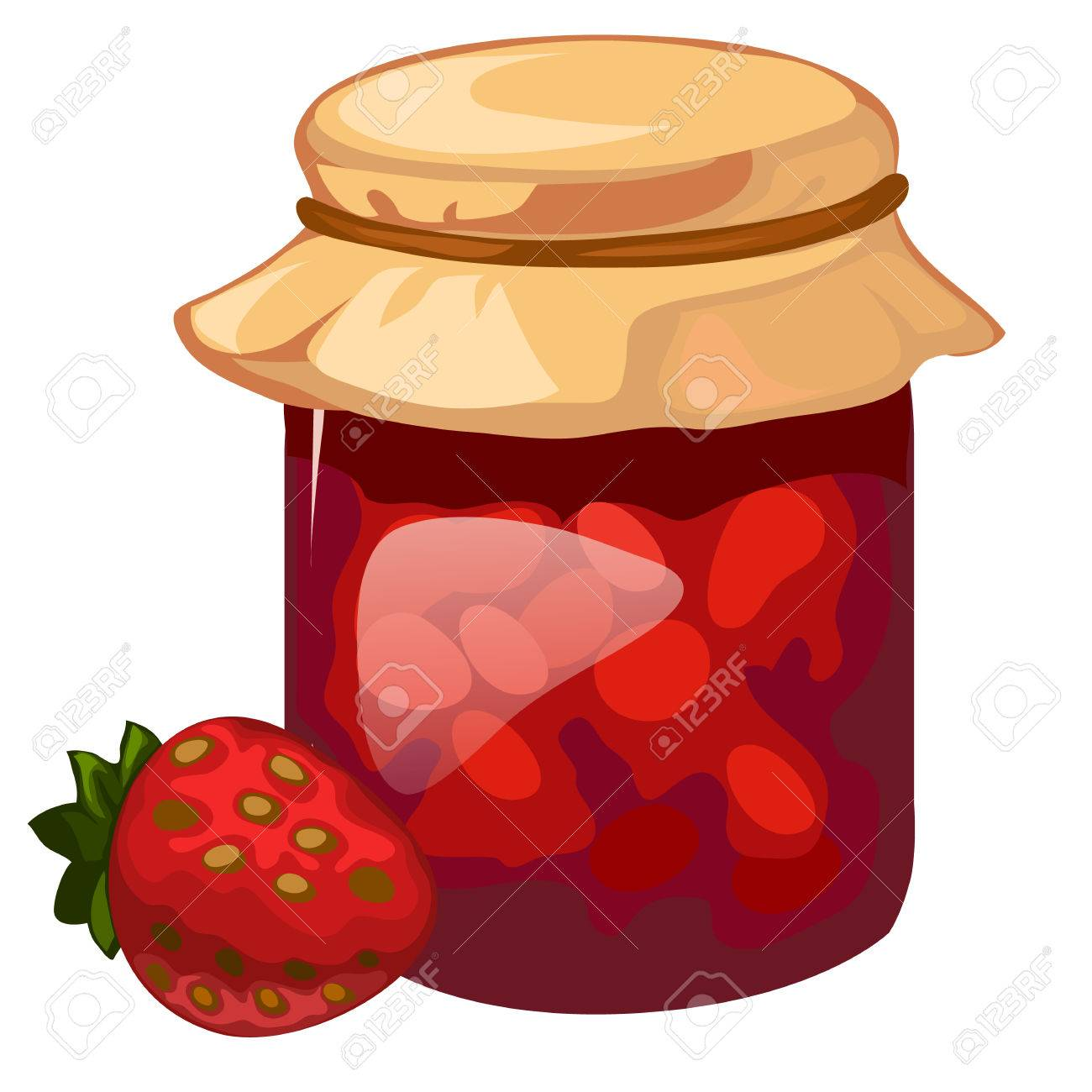 hight resolution of jar of homemade strawberry jam vector dessert royalty free cliparts rh 123rf com hommade jam clip art garden owl clip art