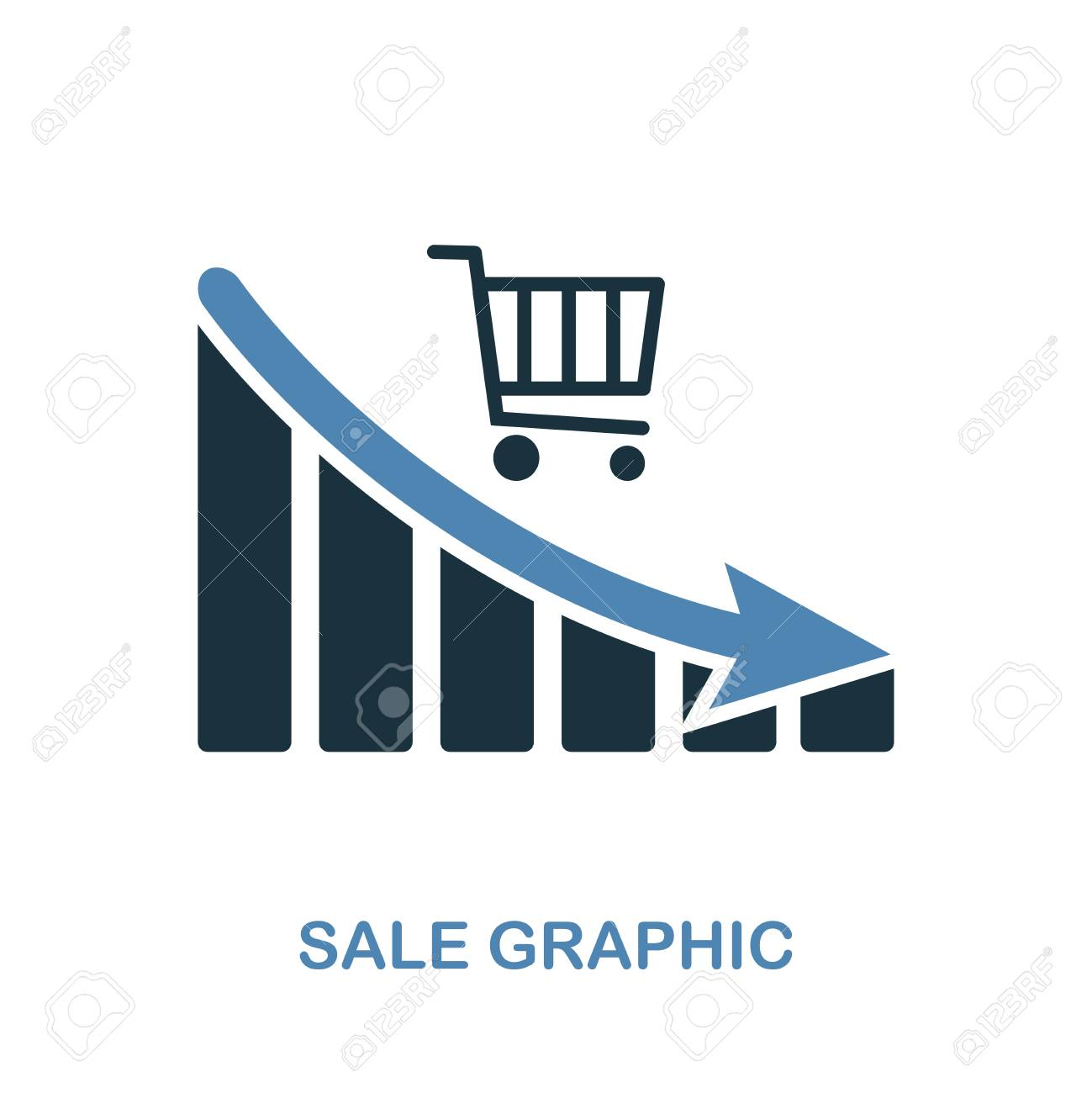hight resolution of sale decrease graphic icon monochrome style design from diagram icon collection ui pixel