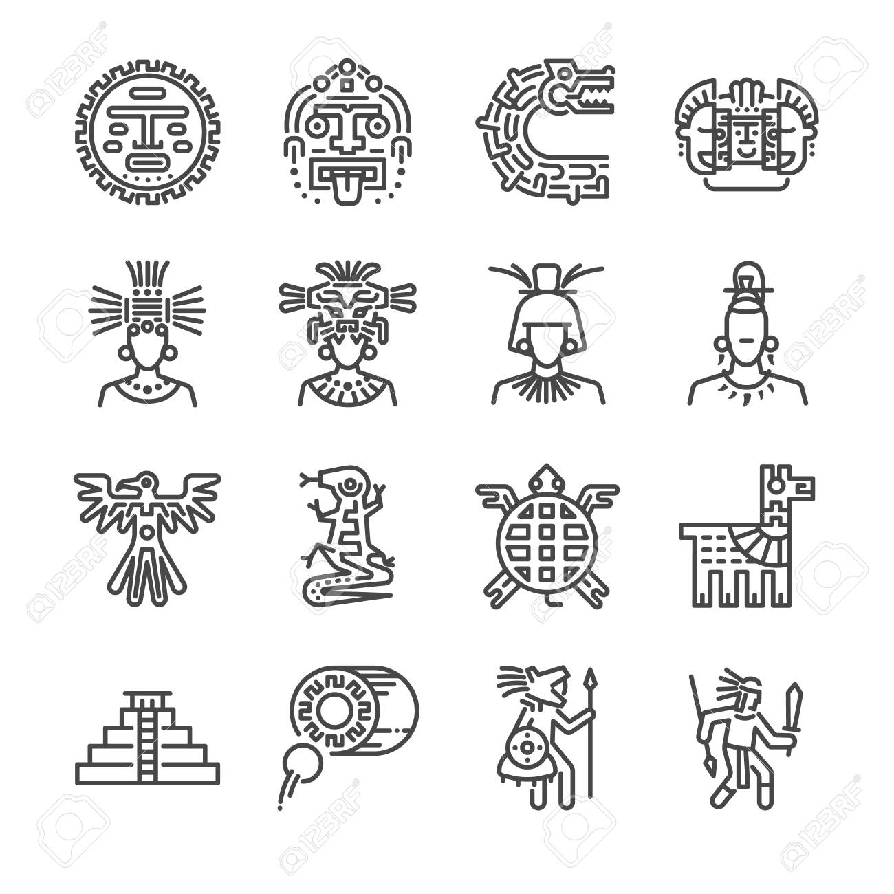aztec icon set included