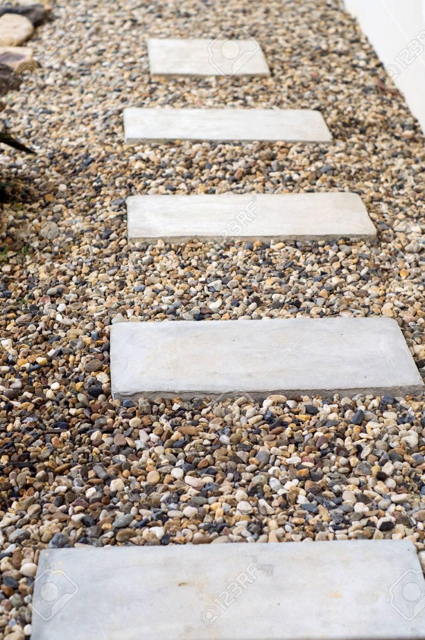 garden stone steps to
