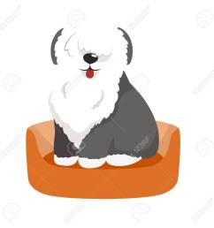 vector vector cute pet bed place for sleeping dog isolated vector illustration [ 1300 x 1300 Pixel ]