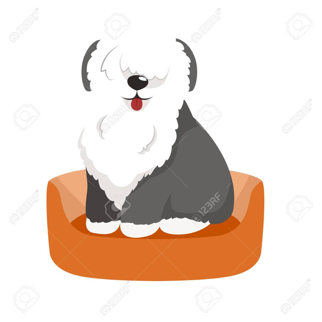 hight resolution of vector vector cute pet bed place for sleeping dog isolated vector illustration