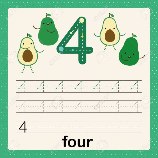 Number 11, Card For Kids Learning To Count And To Write, Worksheet