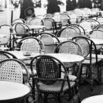 Vintage Street Cafe In Paris Black And White Photo Of Wicker Stock Photo Picture And Royalty Free Image Image 68680116