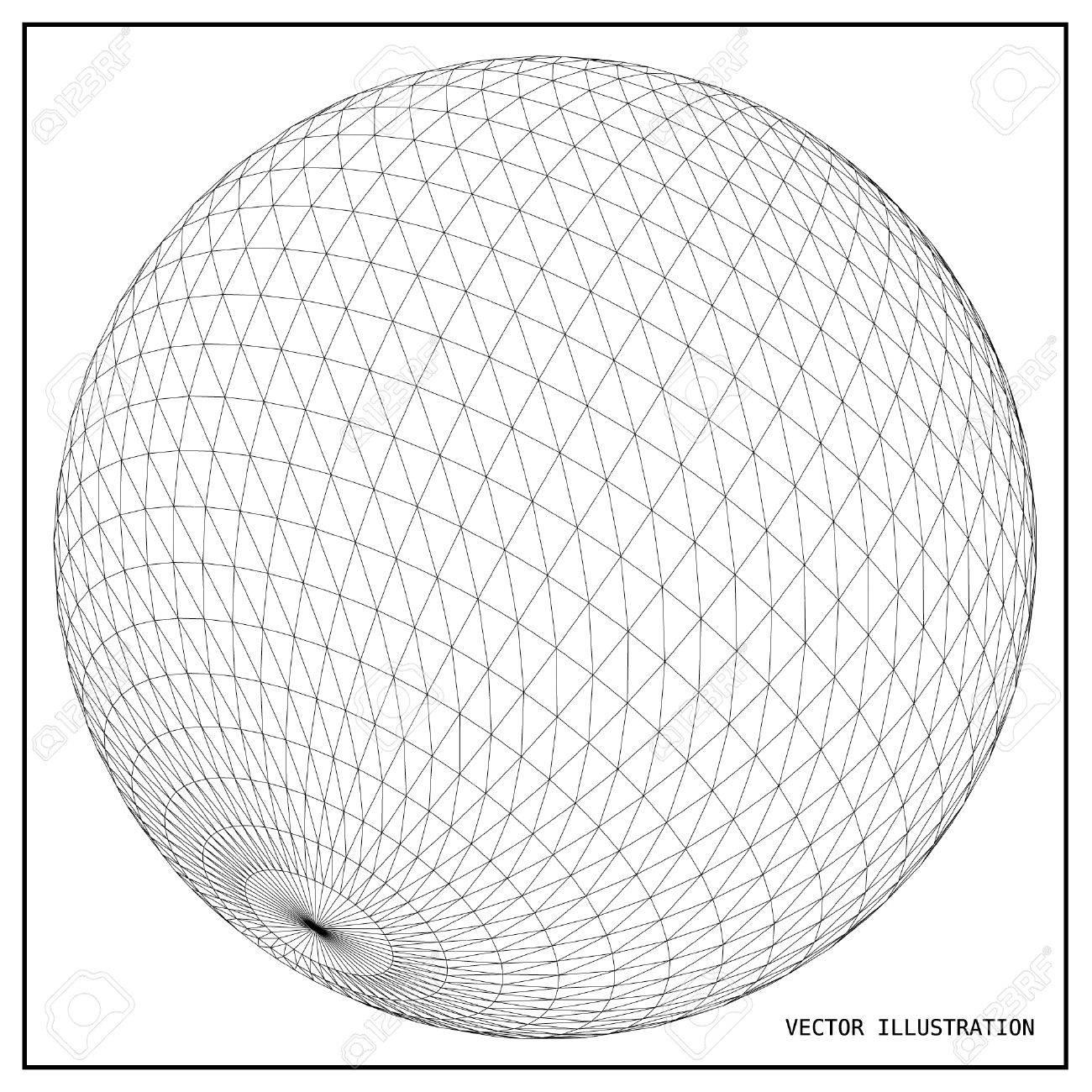wireframe mesh polygonal element