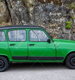 old green classic renault 4 standing on the street stock photo 64781181 [ 1300 x 866 Pixel ]