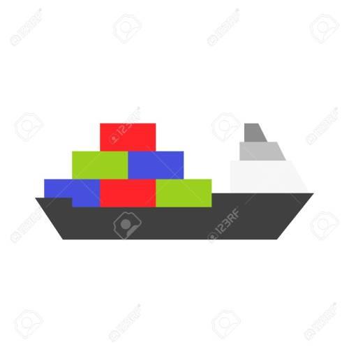 small resolution of cargo ship vector illustration watercraft flat design icon stock vector 114298398