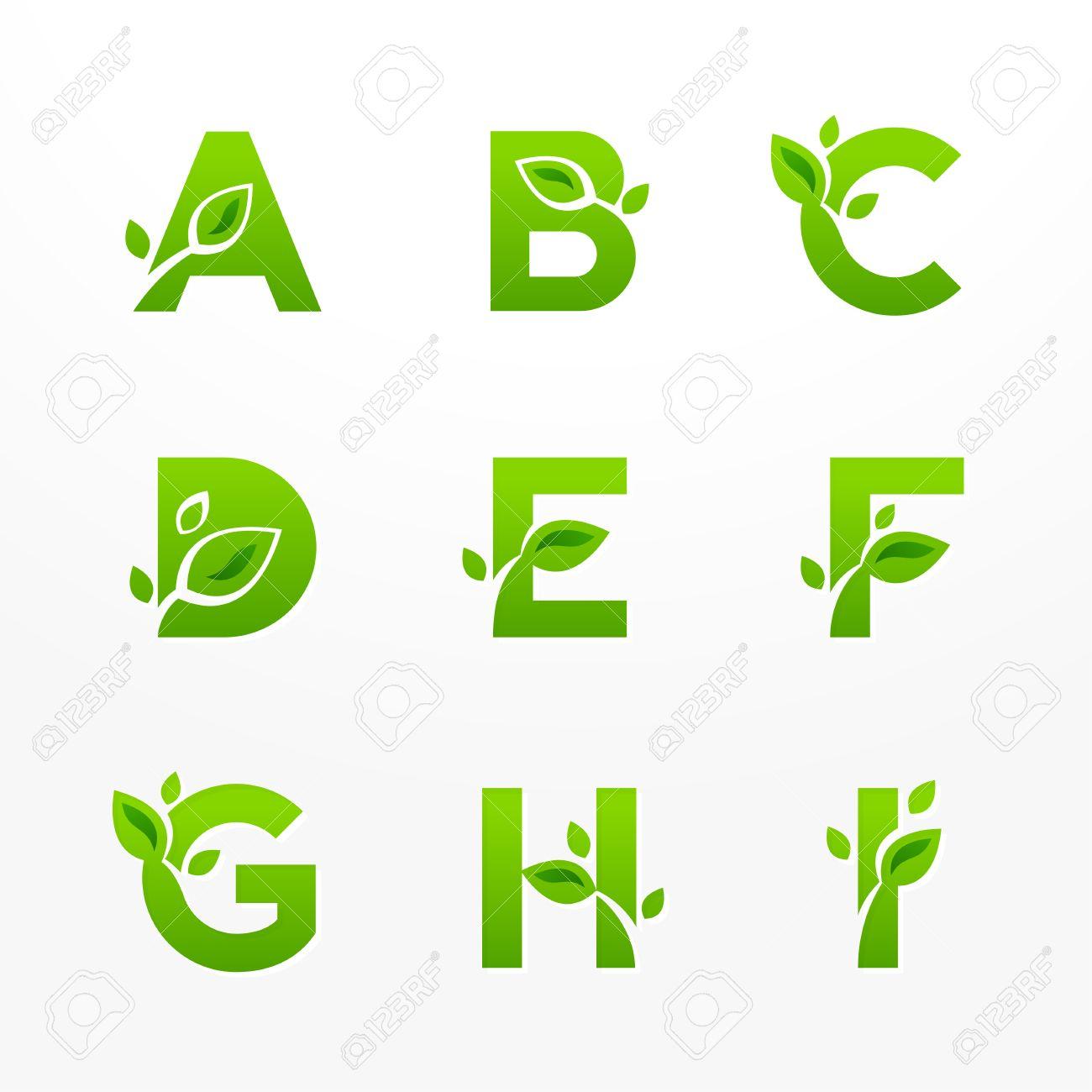 vector set of green