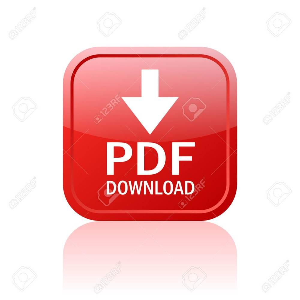 medium resolution of pdf download button stock vector 24011103